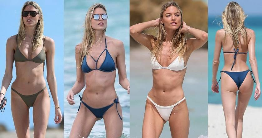 Martha Hunt wearing Hot Tiny Bikinis