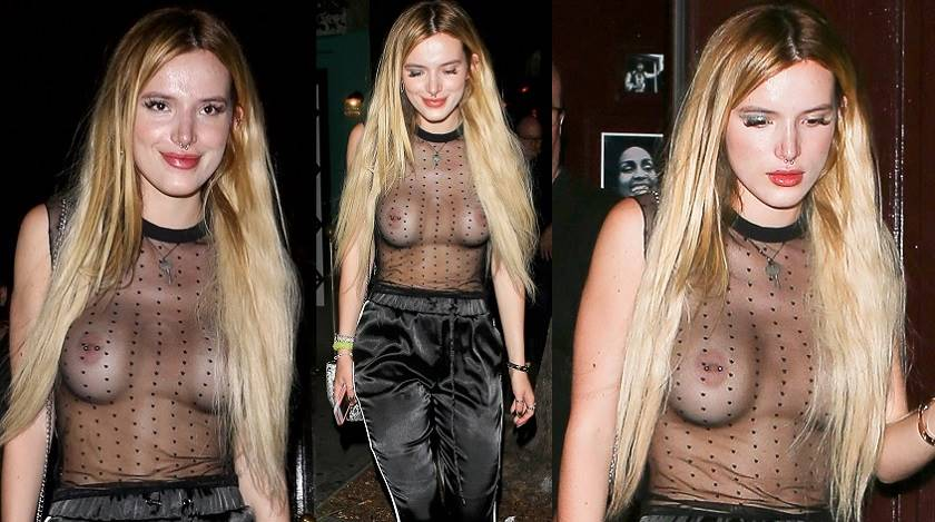 Bella Thorne Actress  Braless See-Through