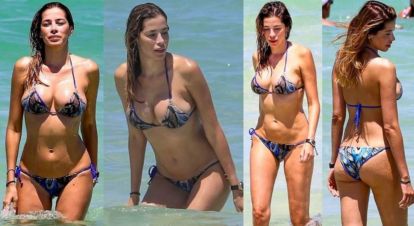 Aida Yespica wearing superHot Tiny Bikini