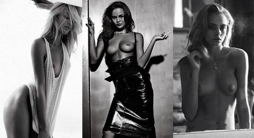 Candice Swanepoel and Cara Delevingne - Hot Naked