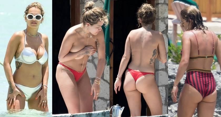 Rita Ora wearing Sexy Bikinis or Topless