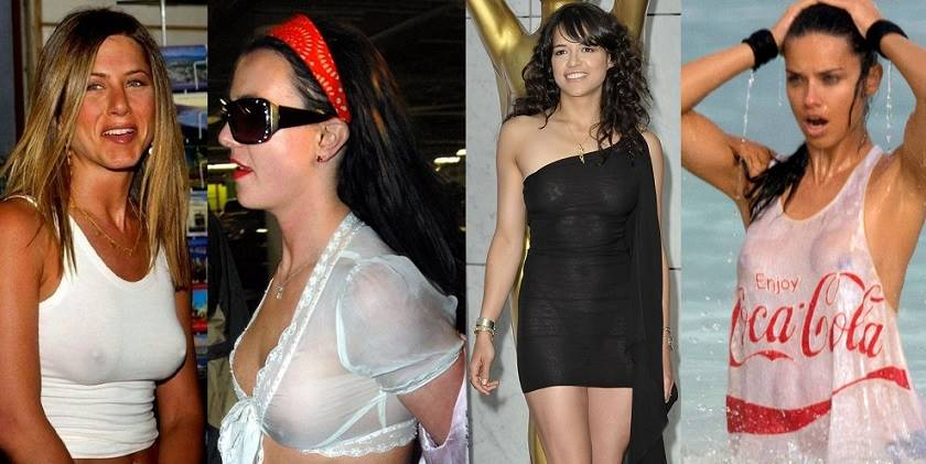 celebrities in see through