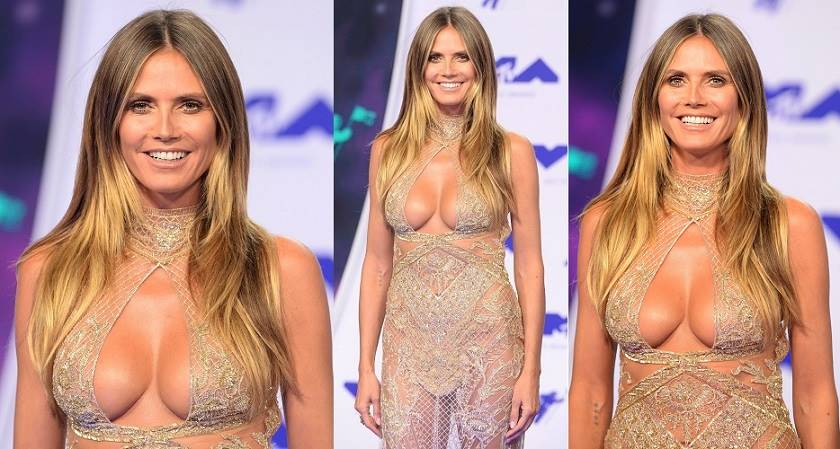 Heidi Klum – Sexy Boobs on 2017 MTV